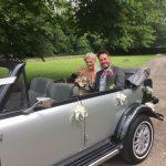 vintage convertible wedding car